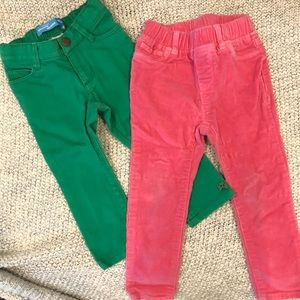 Lots of girls pants, 2 pairs, size 18-24m, gap
